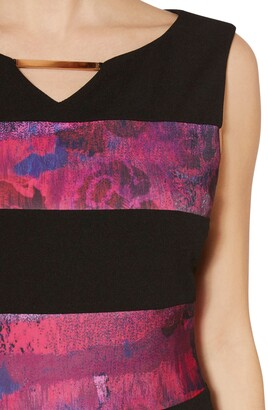 Gina Bacconi Mayra Abstract Panel Dress, Fuschia