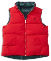 Ralph Lauren Girls' Reversible Down Vest - Sizes S-XL