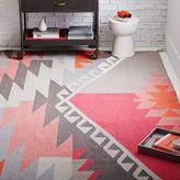 west elm Sivas Wool Kilim Rug - Macaroon Pink