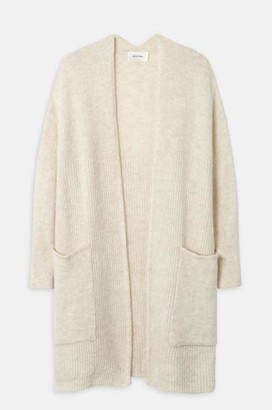 American Vintage East Mid Length Cardigan Pearl Melange - One Size