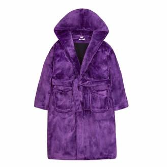 Lora Dora Girls Sequin Slogan Dressing Gown Purple Limited Edition 7-8 Years