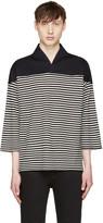SASQUATCHfabrix. Black and White Wa-neck Football T-shirt