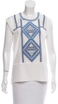 Veronica Beard Silk Embroidered Blouse