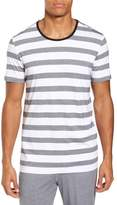 Daniel Buchler Stripe Crewneck Pima Cotton & Modal T-Shirt