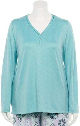 Croft & Barrow Plus Size Whisperluxe Henley Pajama Top