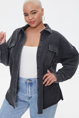 Forever 21 Plus Size Chest-Pocket Jacket