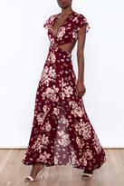Reverse Floral Cut Out Dress
