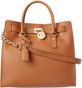 MICHAEL Michael Kors Women's Hamilton Lareg North/South Tote, Brown