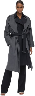 Rokh Long Layered Viscose Blend Coat