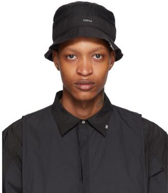 C2H4 Black Panelled Data Administrator Bucket Hat