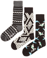Happy Socks Stormy, Geometric & Origami Socks (3 PK)