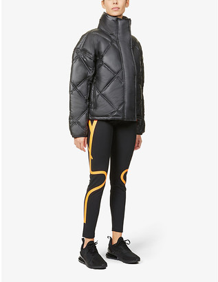 adidas by Stella McCartney Detachable-sleeve padded recycled-polyester puffer jacket