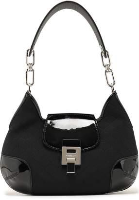 Michael Kors Patent Leather-trimmed Scuba Shoulder Bag