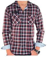 191 Unlimited Men's Fashionable Plaid Shirt