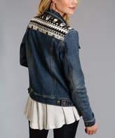 Stetson Blue Geometric Denim Jacket - Women