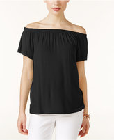 INC International Concepts Off-The-Shoulder T-Shirt, Only at Macy's
