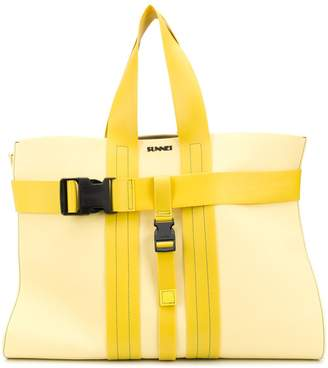 Sunnei Buckled Tote Bag