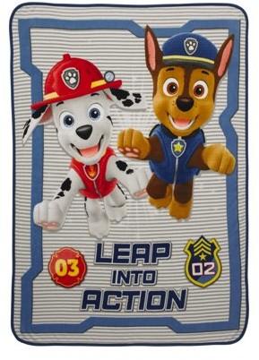 "Paw Patrol Make The Leap Kids Bedding 46"" x 60"" Plush Throw, 1 Each"