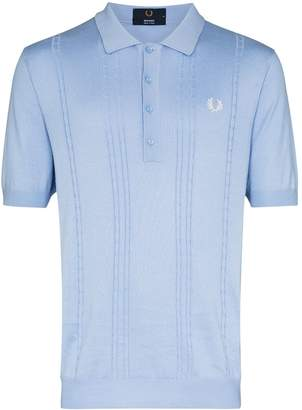 Fred Perry embroidered logo knit polo shirt