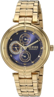 Versus By Versace Women's Bellville Quartz Watch with Gold-Plated-Stainless-Steel Strap 178 (Model: VSP500518)