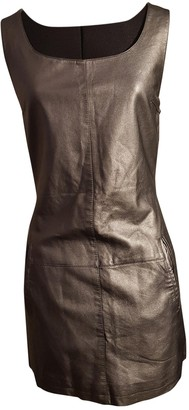 Supertrash Silver Leather Dress for Women