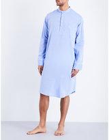 Derek Rose Amalfi Woven Cotton Nightshirt