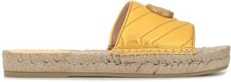 Gucci Woven Sole Logo Plaque Sandals