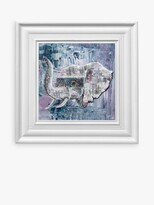 Thumbnail for your product : YARDART - Jess Yelland 'Abayomi the Elephant' Outdoor Waterproof Framed Print, 67 x 67cm, Light Blue