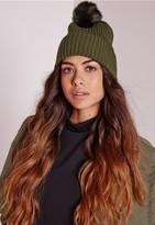 Missguided Pom Pom Hat Khaki