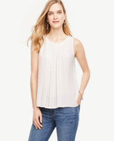 Ann Taylor Petite Lace Inset Shell