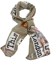 Girl's Adri & Sara 'This Is London' Cotton & Silk Scarf