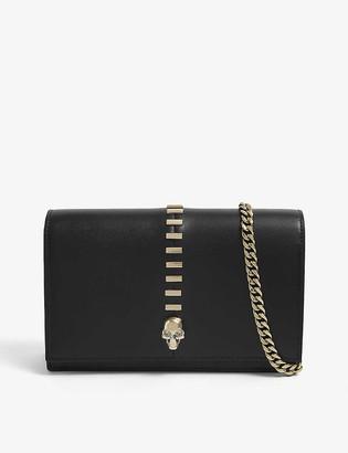 Alexander McQueen Skull-embellished mini leather cross-body bag