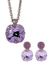 Sorrelli Petite Cushion-Cut Crystal Necklace & Stud Earrings Set