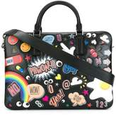Anya Hindmarch multiple patches briefcase