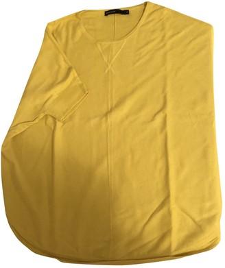 Karen Millen Yellow Cotton Top for Women