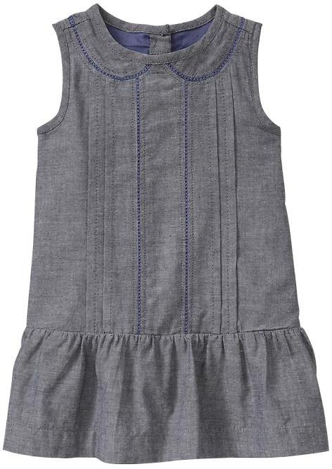 Gap Embroidered chambray dress