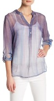 Casual Studio Printed Sheer Blouse