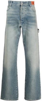Heron Preston High-Waisted Flared Leg Jeans