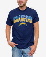 Junk Food Clothing Men's San Diego Chargers Split Arch T-Shirt