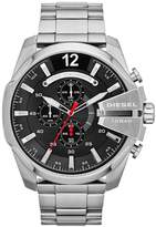 Diesel Mega Chief Chronograph Black Dial And Stainless Steel Bracelet Mens Watch