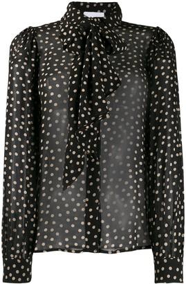 Ganni polka-dot shirt