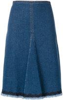 See by Chloe ric-rac trim denim skirt