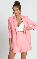 Showpo Hollywood Boulevard Button Up Blazer in pink - 6 (XS) Blazers