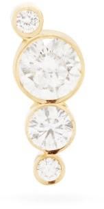 Sophie Bille Brahe Flacon Diamond & 18kt Gold Single Stud Earring - Diamond