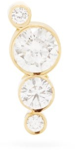 Sophie Bille Brahe Flacon Diamond & 18kt Gold Single Stud Earring - Womens - Diamond
