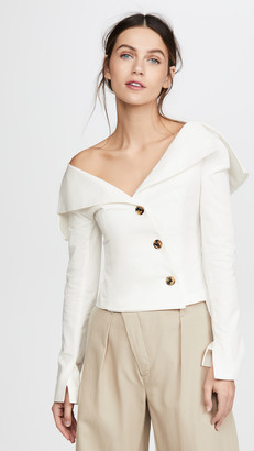 A.W.A.K.E. Mode Off Shoulder Jacket Top