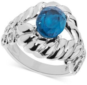 Carolyn Pollack Blue Topaz Rope-Style Ring (2-9/10 ct. t.w.) in Sterling Silver