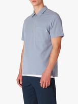 Paul Smith Casual Zip Front Shirt, Pale Blue