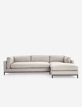 Lulu & Georgia Fritzie Right-Facing Sectional Sofa, Natural