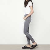Maje Embroidered high-waisted skinny jeans